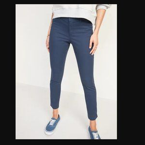 NWOT Old Navy Blue/Grey Mid-Rise Pixie Pants